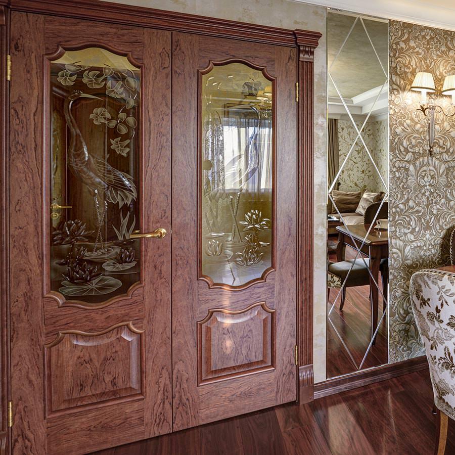 Двери журавль и лотос