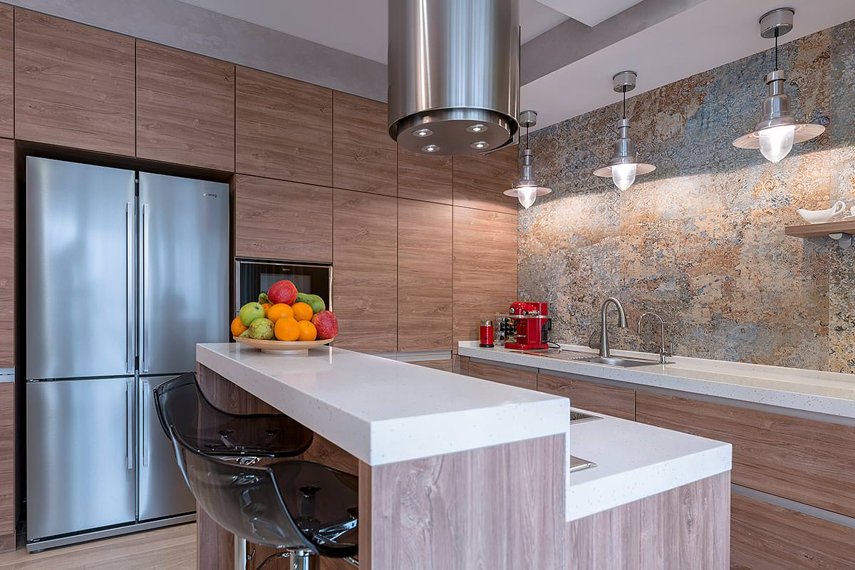 Дизайн интерьера кухни ЖК Солнечный остров