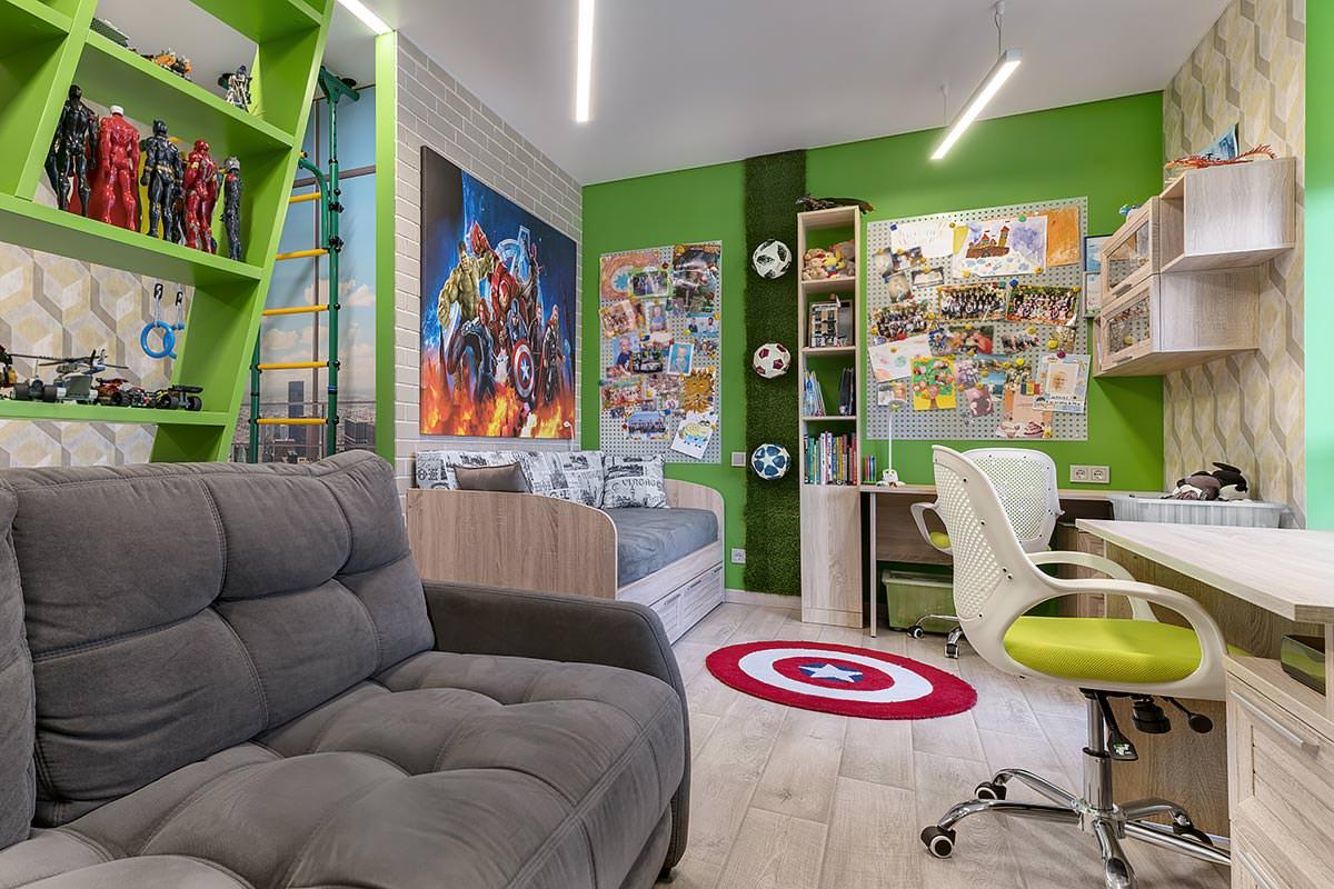 Дизайн интерьера детской комнаты 2 ЖК Солнечный остров