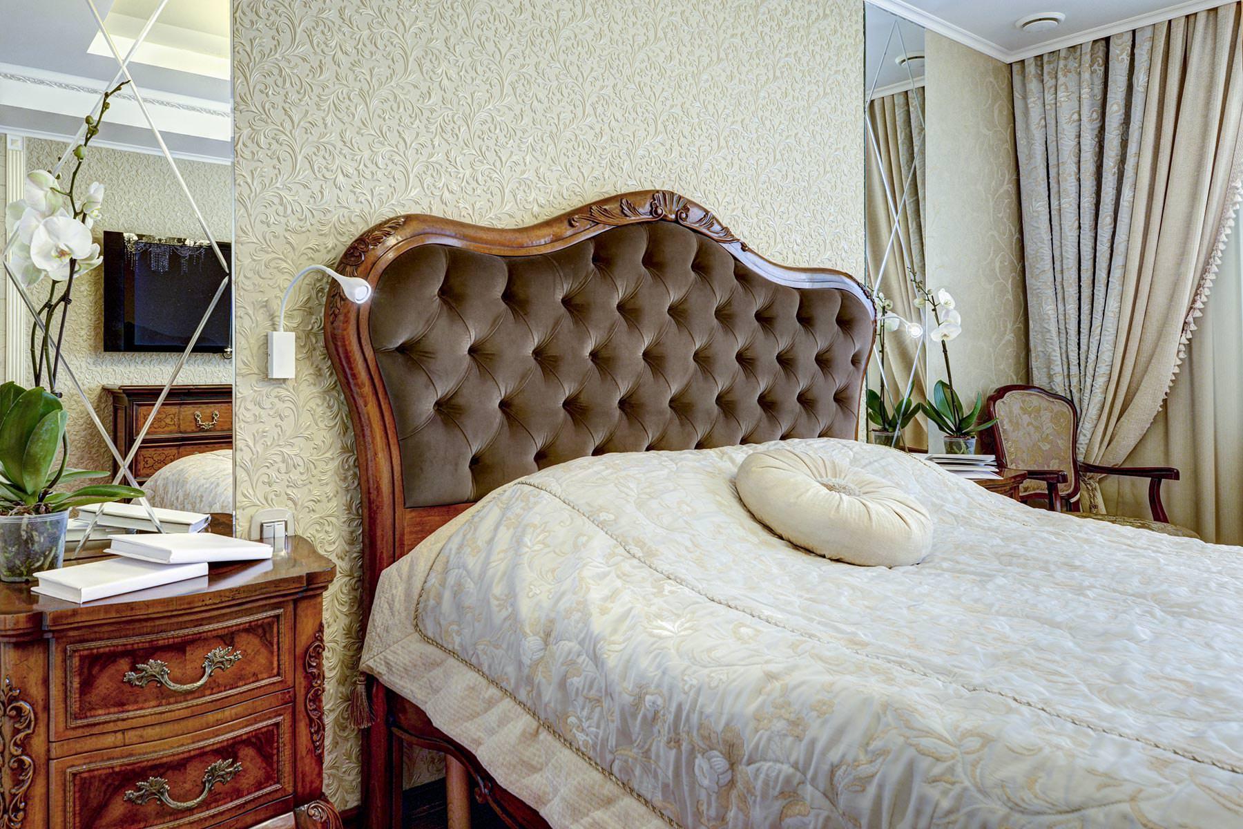 Спальная дизайн интерьера классический стиль