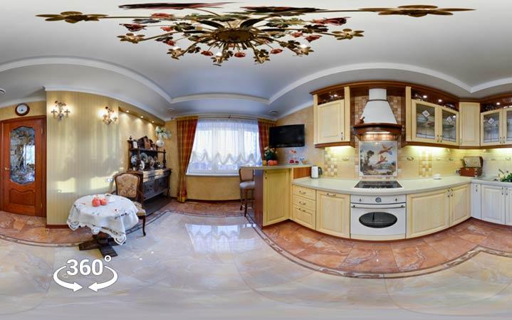 Интерактивный тур дизайн интерьера — панорама 360 ЖК Адмиральский 2012г.