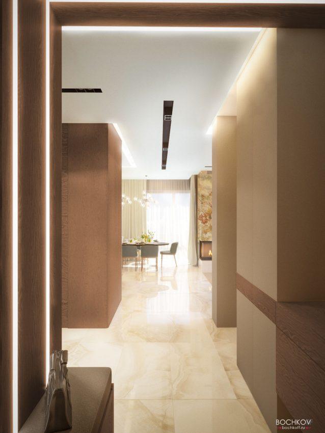 Холл с видом на гостинную комнату | Космаково 5