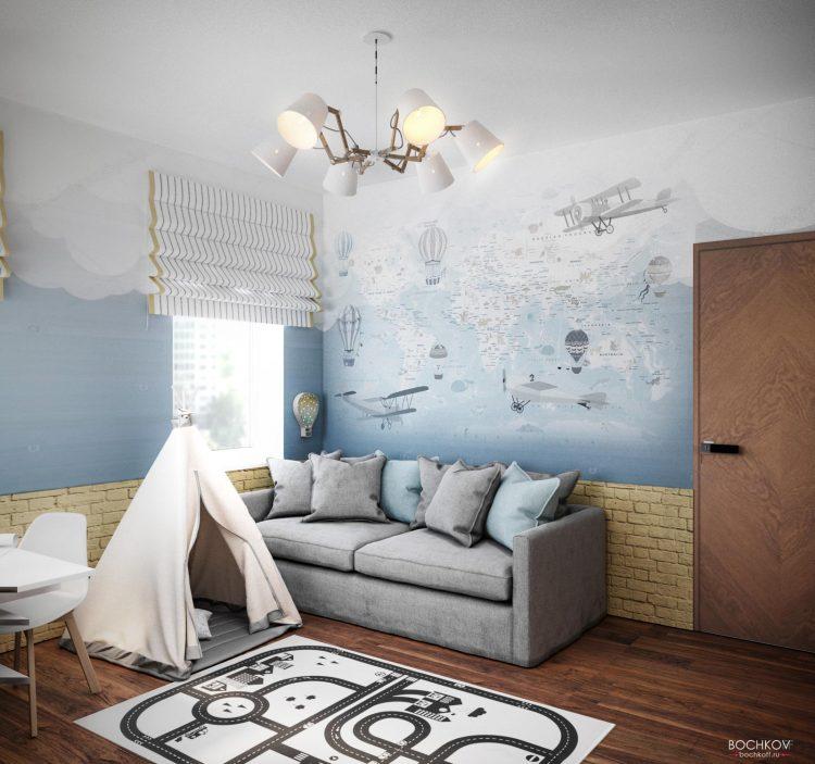Интерьер детской комнаты мальчика | Космаково 5