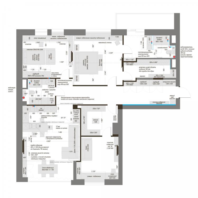 Планировка квартиры, КД Ривьера