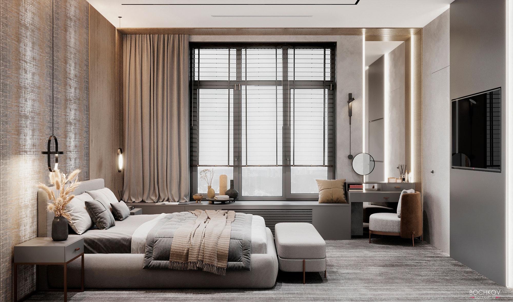 Спальная комната, вид 1, КД Ривьера