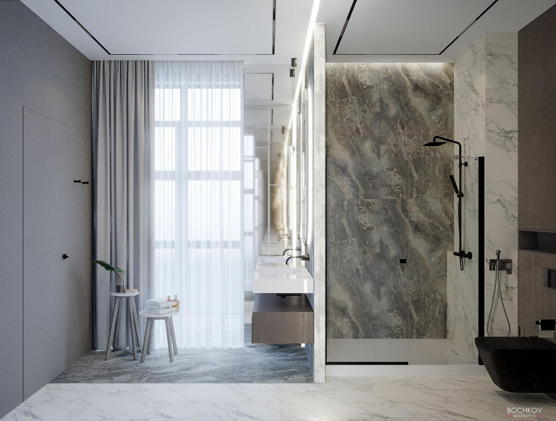 Ванная комната родителей, вид 1, КД Ривьера